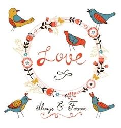 Elegant love card vector