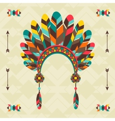 Ethnic background with headband in navajo design vector