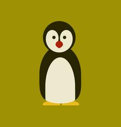 Flat icon stylish background emperor penguins vector
