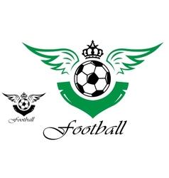 Football or soccer symbol vector