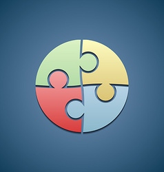 Logo consists of the pieces of the puzzle vector image vector image