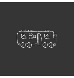 Motorhome Drawn in chalk icon vector image vector image