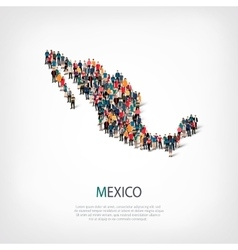people map country Mexico vector image