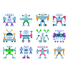 robots cartoon robotic kids toy cute vector image
