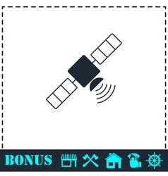 Satelite icon flat vector