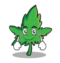 Smile face marijuana character cartoon vector