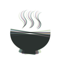 Soup sign colorful icon shaked with vector