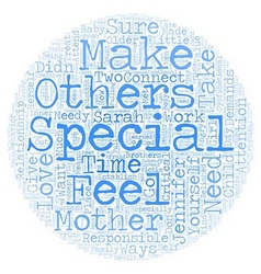 The need to feel special text background wordcloud vector