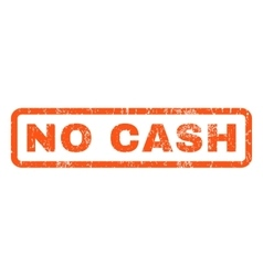 No cash rubber stamp vector