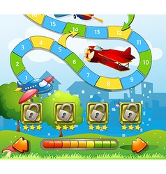 Game template with airplane background vector