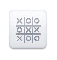 White tic tac toe icon eps10 easy to edit vector