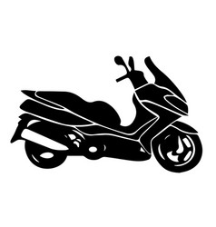 Scooter silhouettemax isolated eps 10 vector