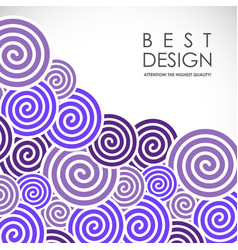 spiral abstract background vector image