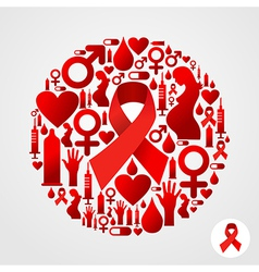 Aids icon set vector