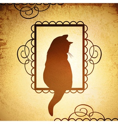 Vintage cat design vector
