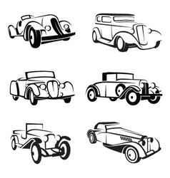 Set of retro cars vector