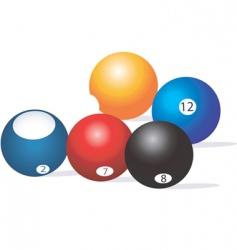 snooker ball vector image