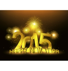 Happy new year 2015 gold platinum vector