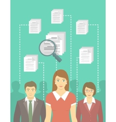 Human resources management vector