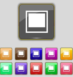 Photo frame template icon sign set with eleven vector