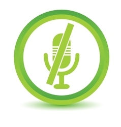 Muted microphone volumetric icon vector