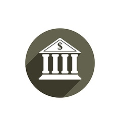 Bank icon isolated vector