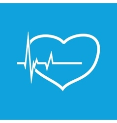 Cardiology icon 2 simple vector