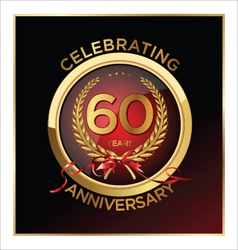60 years anniversary label vector image vector image
