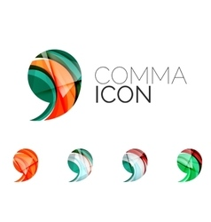 Set of abstract comma icon business logotype vector