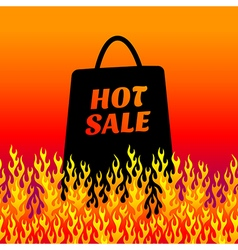 fire background sale vector image
