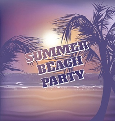 Tropical clubbing beach poster vector