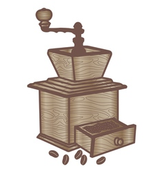 classic coffee grinder vector image