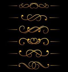 Vintage ornamental embellishments vector