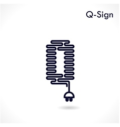 Creative q letter icon abstract logo design vector