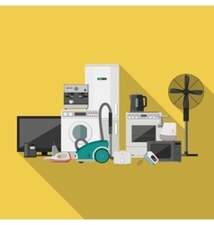 Household appliance flat banner vector image