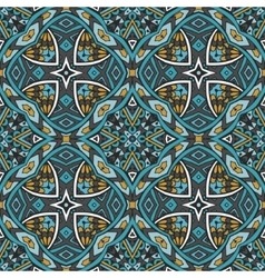 Abstract blue tribal geometric print vector