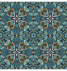 Abstract blue tribal geometric print vector