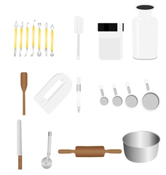 bakery tool vector image vector image