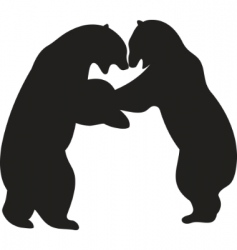bear vector vector image vector image