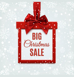 Big christmas sale red square banner in form of vector
