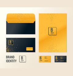 Corporate identity the layout templates for your vector