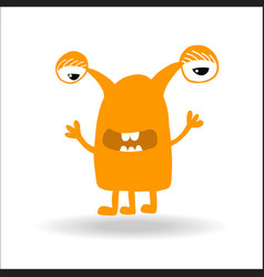 cute monster kids logo monster set vector image