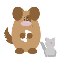 dog and cat happy vector image vector image