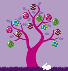 easter eggs tree 2 vector image vector image