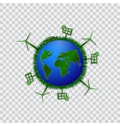 Go green design template environment vector