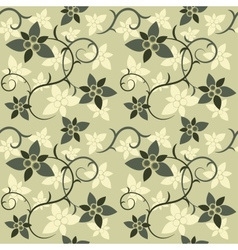 Green Floral Seamless vector image