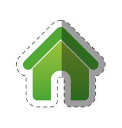 green house environment design vector image