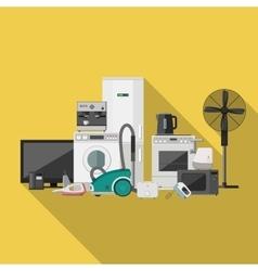 Household appliance flat banner vector