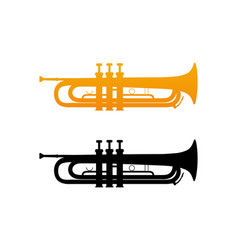 icon of golden trumpet vector image vector image