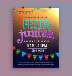 invitation background for festa junina festival vector image vector image